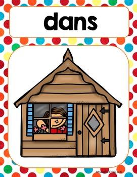FRENCH Prepositions posters/ Les prépositions {Affiches}