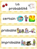 FRENCH Math Word Wall Labels - Probability / Probabilité