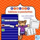 FRENCH Pumpkin Pocket Chart Center/ Atelier citrouilles colorées