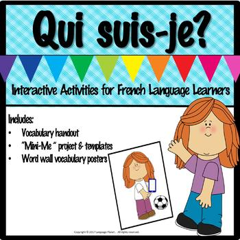 """FRENCH - QUI SUIS-JE? """"Mini-Me"""" Project and Resources"""