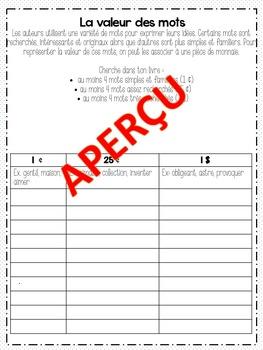 FRENCH READING Activités de lecture personnelle, vocabulaire et stratégies