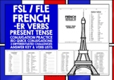 FRENCH -ER VERBS CONJUGATION #1 DISTANCE LEARNING