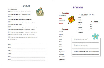 FRENCH REVISION- le temps