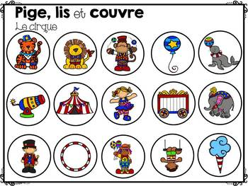 FRENCH Read and Cover-Family Outings/ Pige, lis et couvre-Sorties familiales