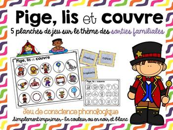 FRENCH Read and Cover-Family Outings/ Pige, lis et couvre-
