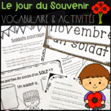 FRENCH Remembrance Day Activities & Vocabulary Package (Le jour du souvenir)