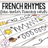 FRENCH Rhyme Fine Motor Tracing Cards - Les rimes en maternelle