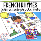 FRENCH Rhyme Puzzle Mats - Les rimes en maternelle