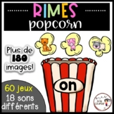FRENCH Rhyming Activity - Rimes Popcorn - Conscience phonologique