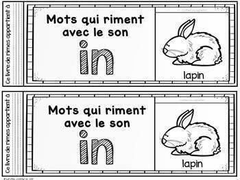 FRENCH Rhyming Flipbook/ Livres à rabats des rimes (Activité phonologique)
