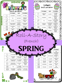 FRENCH Roll-A-Story SPRING (Short Story Writing)