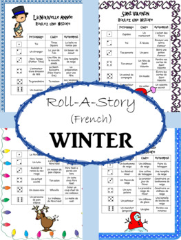 FRENCH Roll-A-Story WINTER (Short Story Writing)