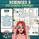 FRENCH SCI. 5 - ENERGY/LES SOURCES D'ÉNERGIE