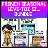 French Seasonal Lève-toi si... Bundle/French Digital Stand Up Sit Down Bundle