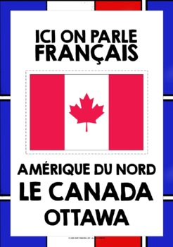 FRENCH-SPEAKING COUNTRIES - 46 POSTERS / FLASHCARDS