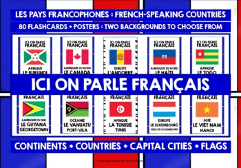 FRENCH-SPEAKING COUNTRIES POSTERS