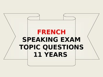 FRENCH  SPEAKING EXAMEN