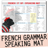 FRENCH LEARNING MAT - Vocab grammar and opinions - speakin