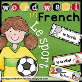 FRENCH SPORT WORD WALL - LE SPORT
