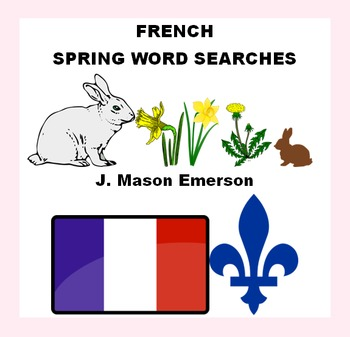 FRENCH SPRING WORD SEARCHES