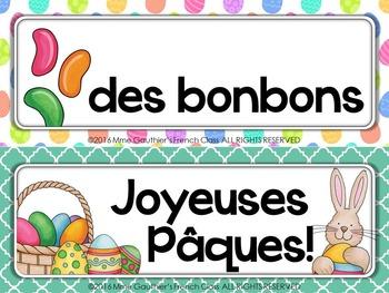 FRENCH SPRING WORD WALL - JOYEUSES PÂQUES!