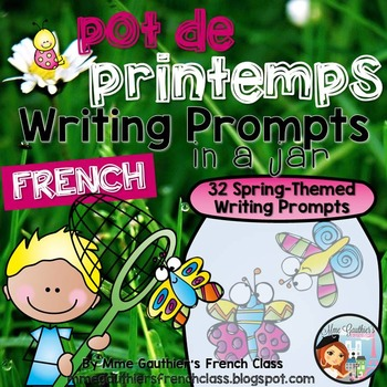 FRENCH SPRING WRITING PROMPTS IN A JAR - POT DE PRINTEMPS