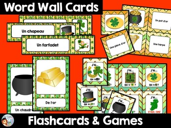 FRENCH ST PATRICK'S DAY WORD WALL, FLASHCARDS, GAMES, SENTENCE BUILDERS & MORE!