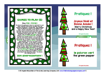 FRENCH STARTER VOCABULARY (1&2) - CHRISTMAS PRACTICE & REVISION