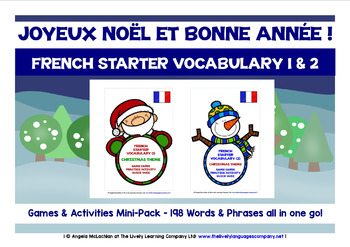 FRENCH STARTER VOCABULARY (1&2) - CHRISTMAS EDITION - GAME