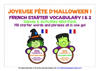 FRENCH STARTER VOCABULARY (1&2) - HALLOWEEN EDITION - GAME