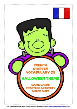 FRENCH STARTER VOCABULARY (2) - HALLOWEEN EDITION - GAMES