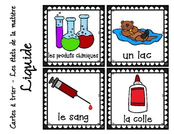 FRENCH - STATES OF MATTER  -  Sorting Cards