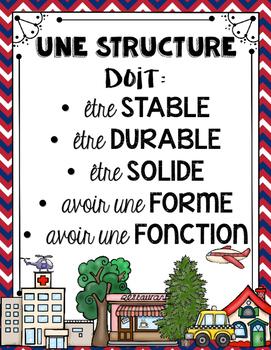 FRENCH STRUCTURES UNIT - GRADE 3 SCIENCE (LES STRUCTURES STABLES ET SOLIDES)
