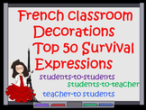 FRENCH CLASSROOM DECORATIONS TOP 50 SURVIVAL EXPRESSIONS