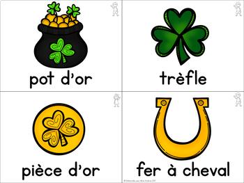 FRENCH Saint Patrick's Day Vocabulary Cards (vocabulaire - la Saint Patrick)