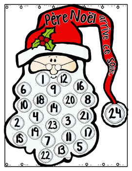 FRENCH Santa Advent Calendar