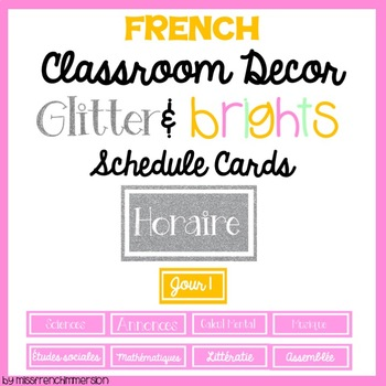FRENCH Schedule Cards - EDITABLE