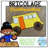 FRENCH School Bus Craft/ Bricolage Autobus Scolaire GRATUIT