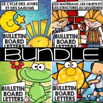 FRENCH Science Bulletin Board Letters BUNDLE GR 1