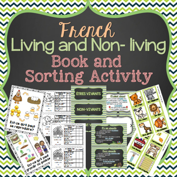 FRENCH Science Living Things Booklet and Sorting Cards