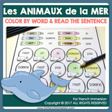 FRENCH Sea Animals Color by Word | Les animaux de la mer
