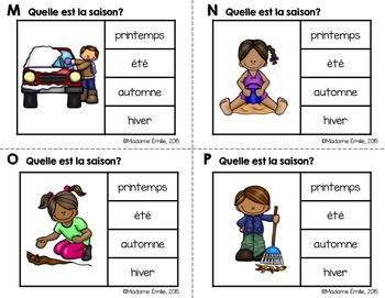 FRENCH {Seasons Clip cards}/ Cartes à clip {Saisons}