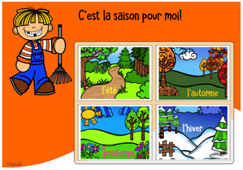 FRENCH Seasons Digital Task Cards - Les 4 saisons