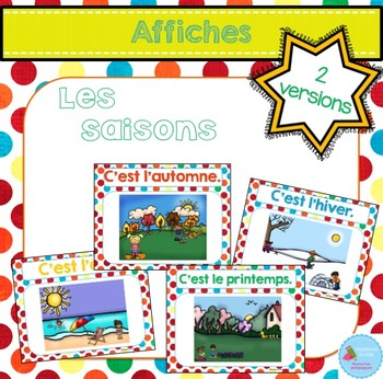 FRENCH Seasons posters/ Les saisons {Affiches}