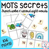 FRENCH Secret Beginning Sound Sight Words (Mots fréquents secrets)