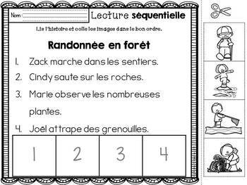 FRENCH Sequencing - Spring / Histoires séquentielles PRINTEMPS Distance Learning