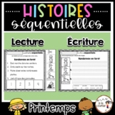FRENCH Sequencing - Spring / Histoires séquentielles PRINT