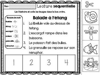 FRENCH Sequencing Read & Write - Summer / Histoires séquentielles - ÉTÉ