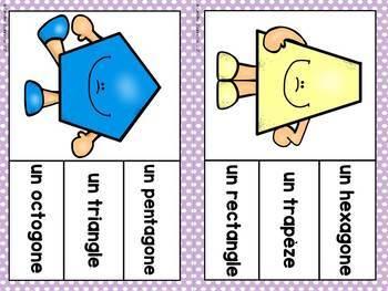 FRENCH Shape Clip Cards / Épingle la forme géométrique