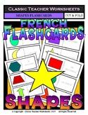FRENCH - Shapes Flashcards - Shapes - Cut & Fold Flashcards